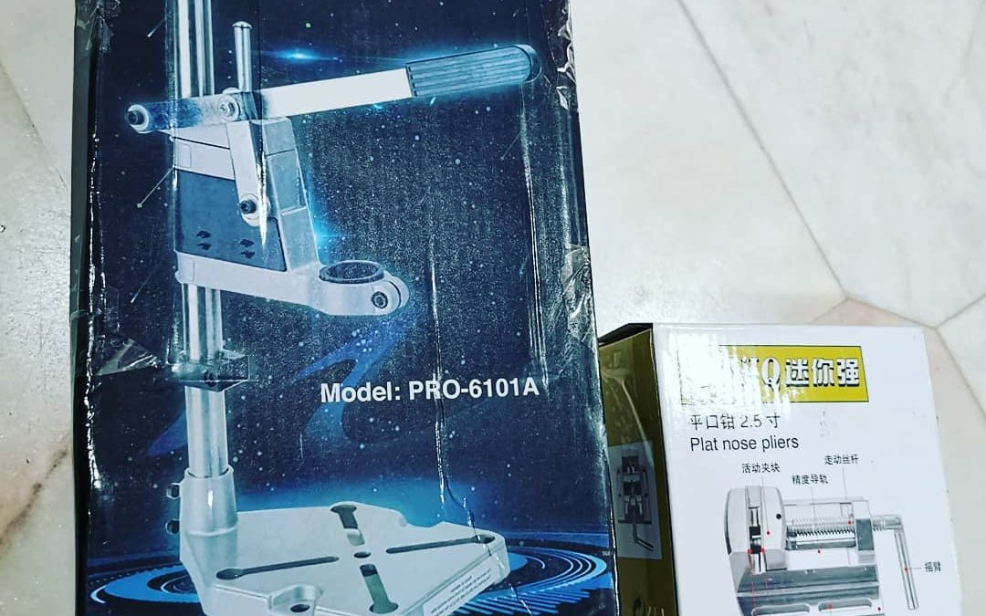 Hand drill stand from Lazada for RM 65